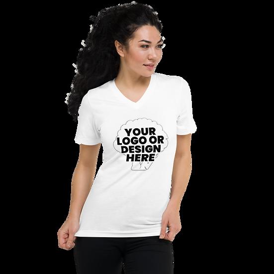 Custom V-Neck T-Shirt - unisex