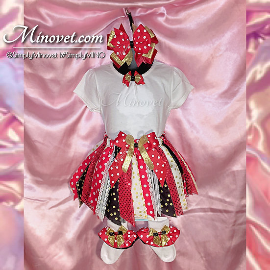 2pc Fabric Tutu Set (Shirt/Skirt only) - 2T/3T