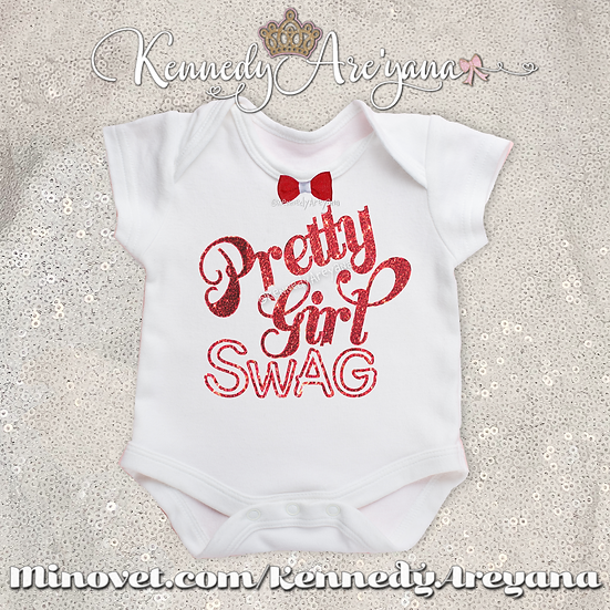 Pretty Girl Swag T-Shirt (Red/White)