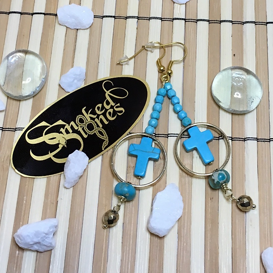 Earrings - Cross in Rings
