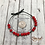 "Thumbnail: Morse Code Bracelet ""Beautiful"" Lotus and Hematite"