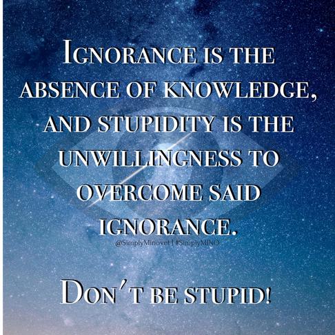 Ignorance vs. Stupidity