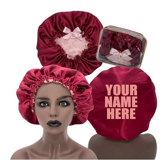 Pink and Deep Red Bonnet (Medium)