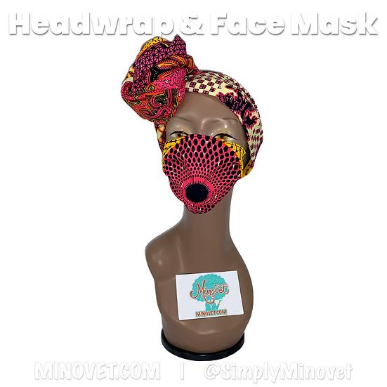 Headwrap & Mask Set - Elegance