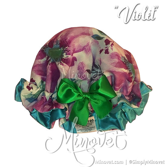 Violet - Satin Bonnet