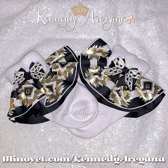 Black/Gold Ruffle Socks