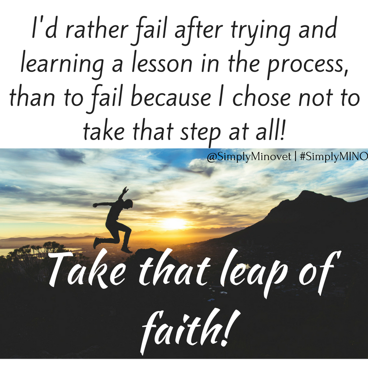 Take a leap of faith!