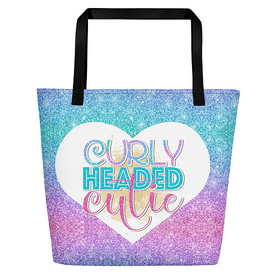 Curly Headed Cutie Beach Bag