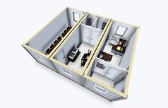 Kontor 44 kvm 3D
