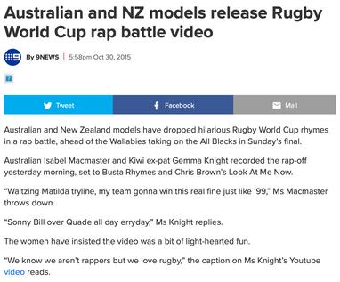9 News - rugby rap