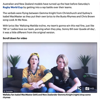 Daily Mail - rugby rap