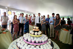 Guests under tent and cupcake table - fr