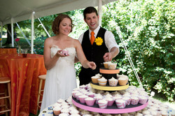 Kit and Cara at cupcake table - from Lau
