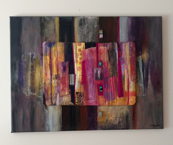 Mounting Small Quilts on Stretched Canvas