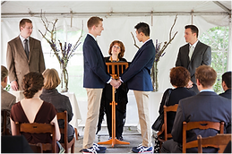 Same-sex wedding ceremony, Ithaca, NY