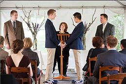 Same-sex wedding ceremony, Ithaca, NY