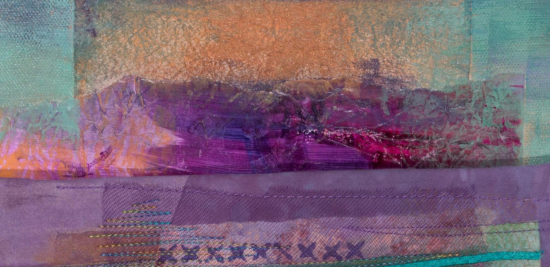 3-Aqua Mixed Media Collage Detail 2