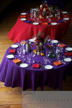 tables at Marc and Jonathan's wedding at