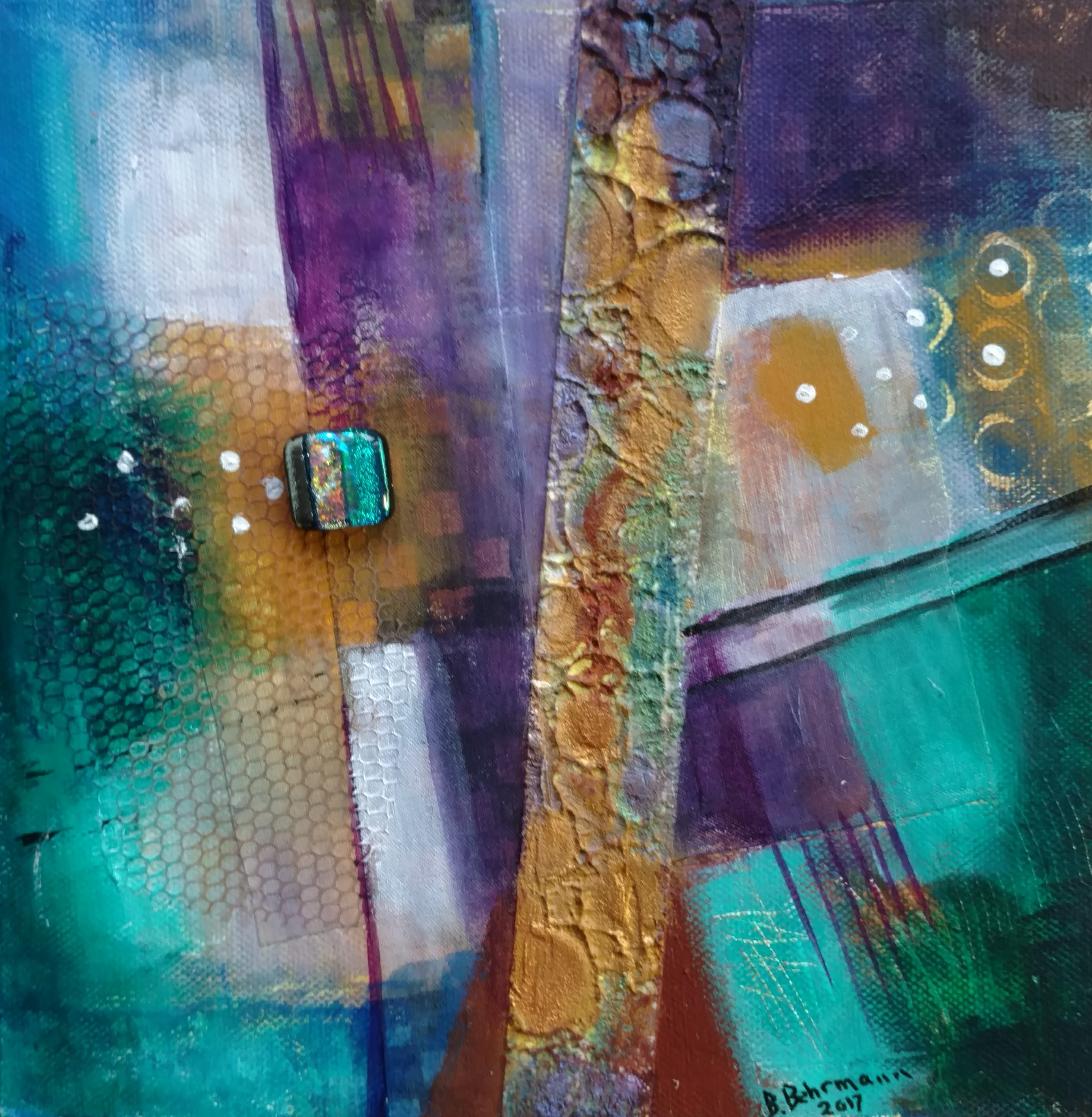 """Abstract Composition (8""""x8"""")"""