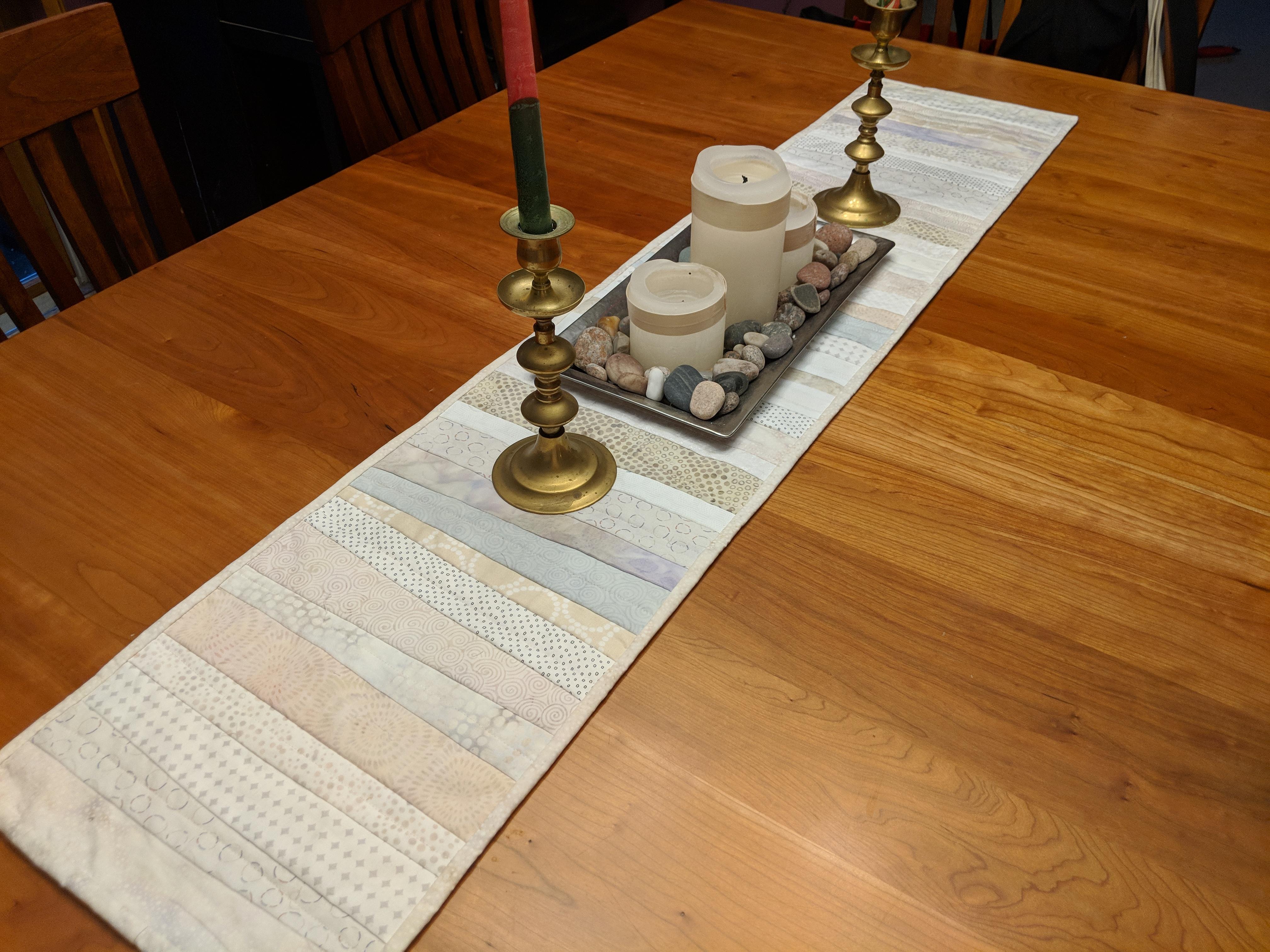 Table Runner in Neutrals