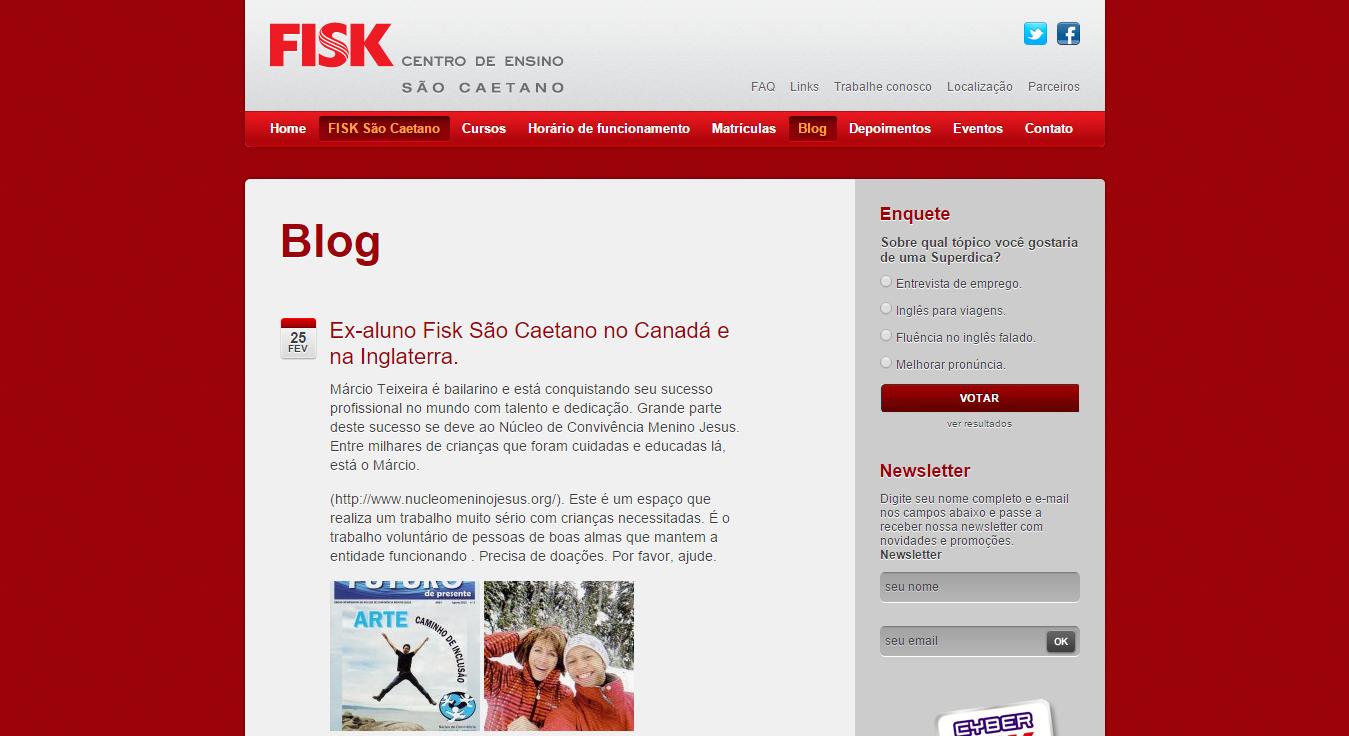 Ex-aluno Fisk São Caetano no Canadá
