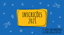 Inscrições abertas para 2021