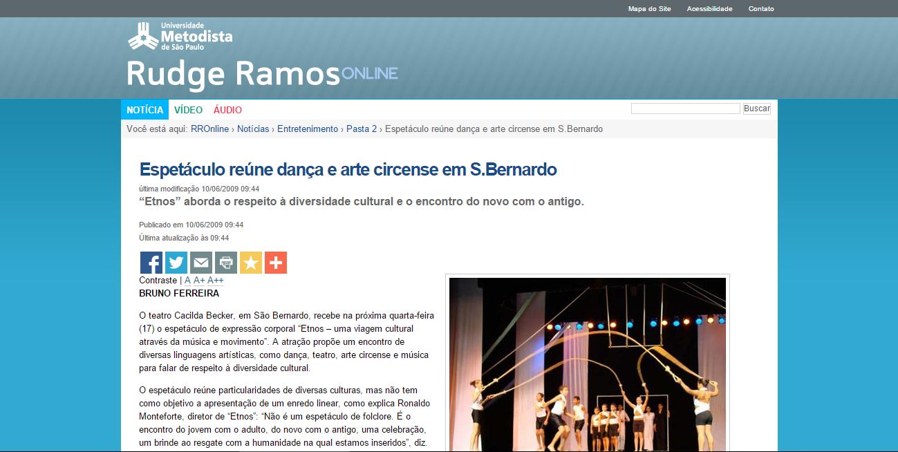 Espetáculo reúne dança e arte circen
