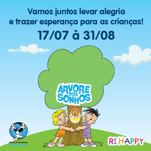 """Campanha """"Árvore dos Sonhos"""" em parceria com a Ri Happy."""