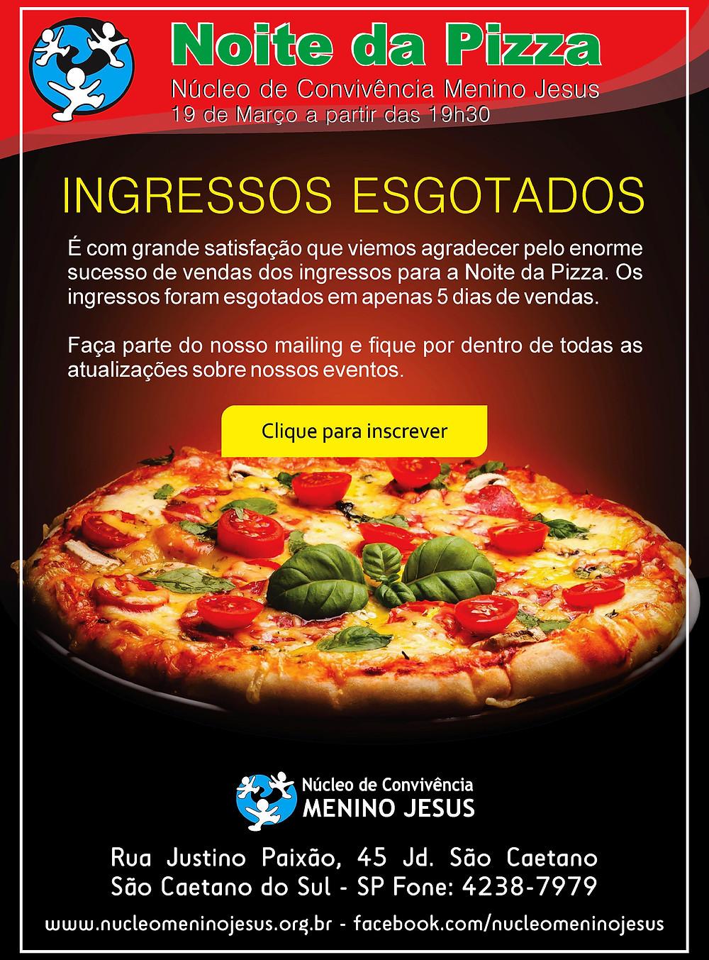 Noite da Pizza 2015 - Núcleo de Convivência Menino Jesus