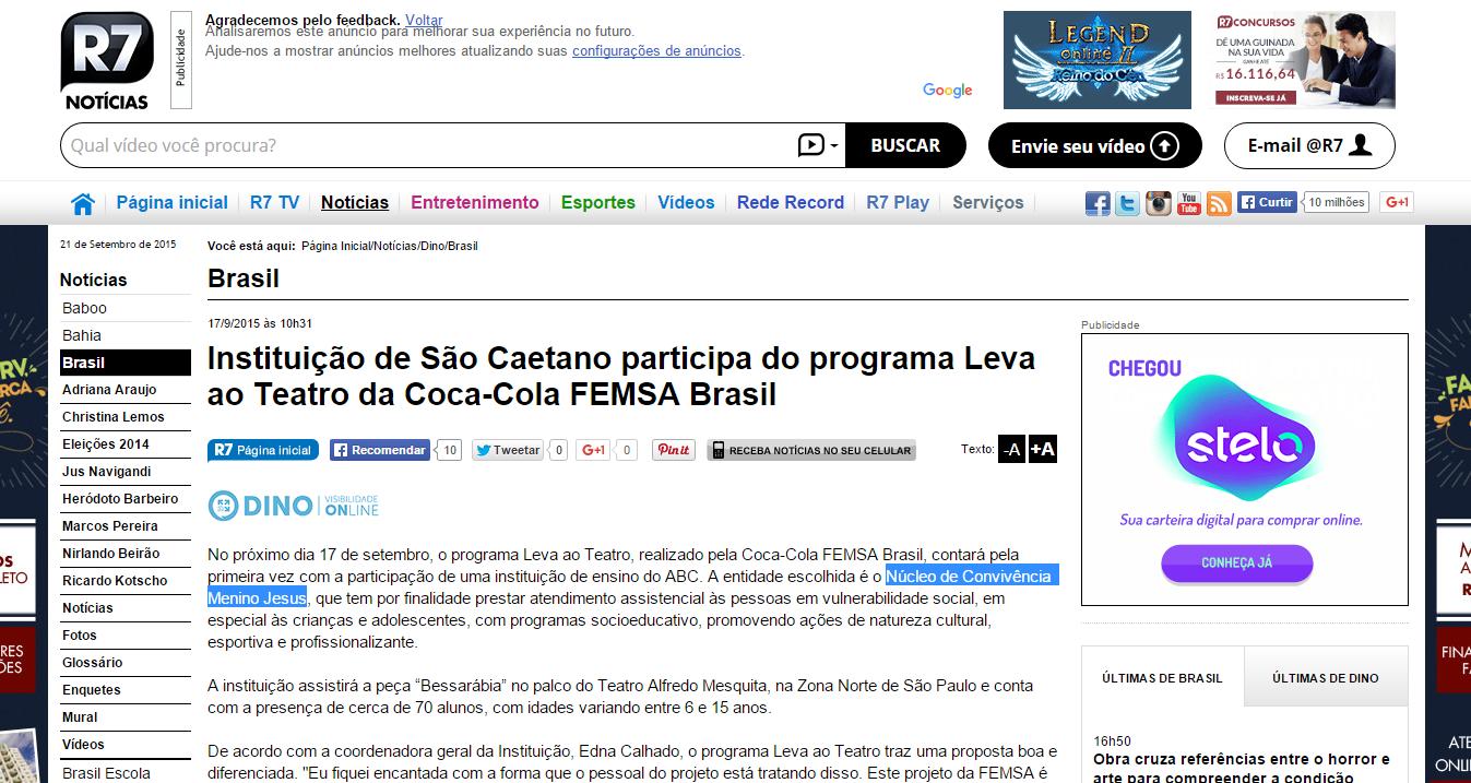 Instituição de São Caetano participa
