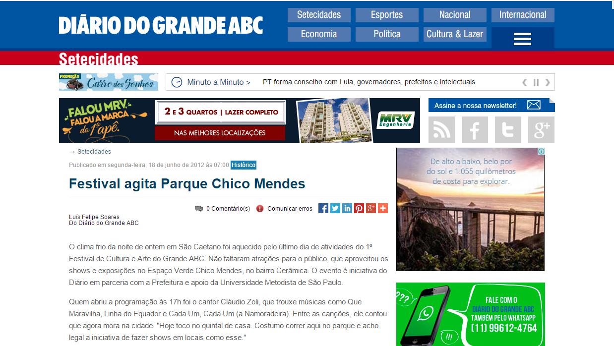 Festival agita Parque Chico Mendes