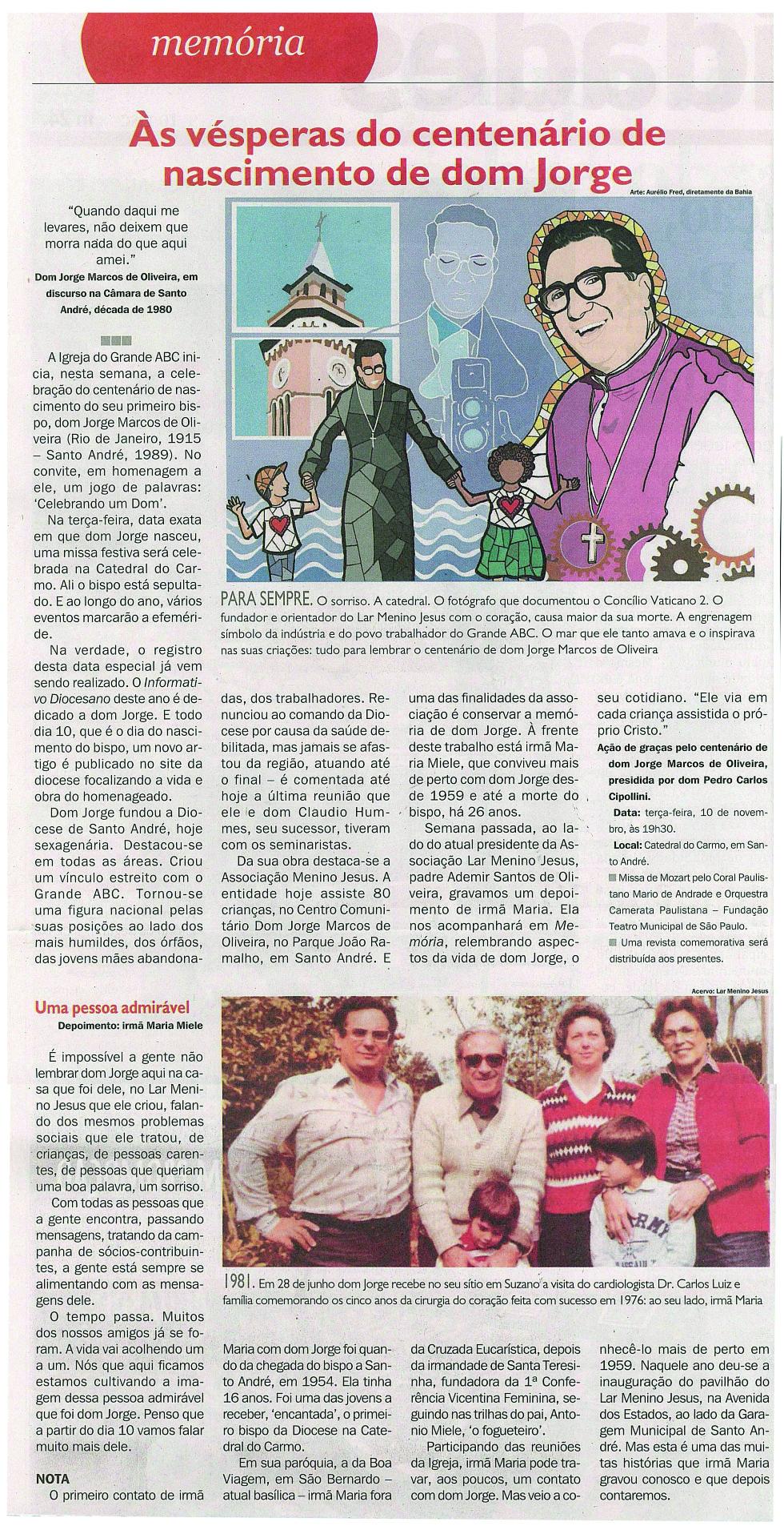 Centenário Dom Jorge Marco de Olivei