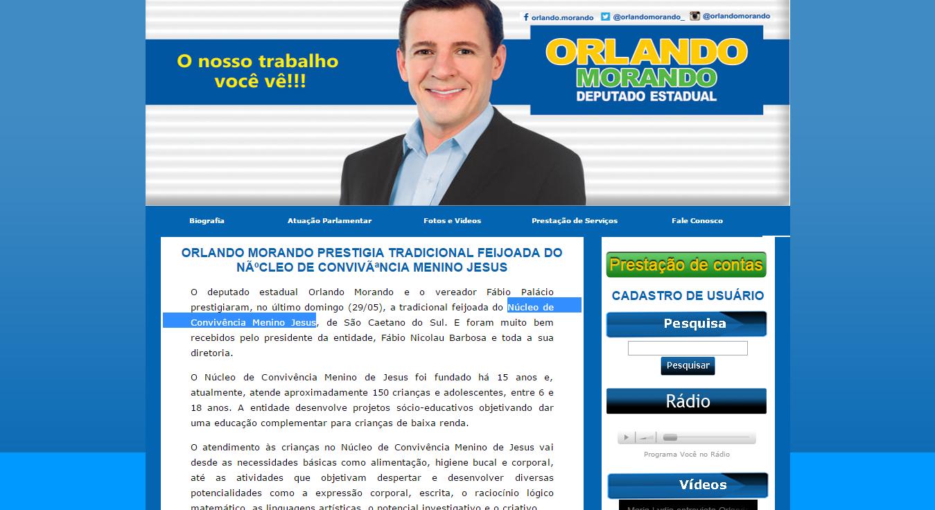 ORLANDO MORANDO PRESTIGIA TRADICIONA