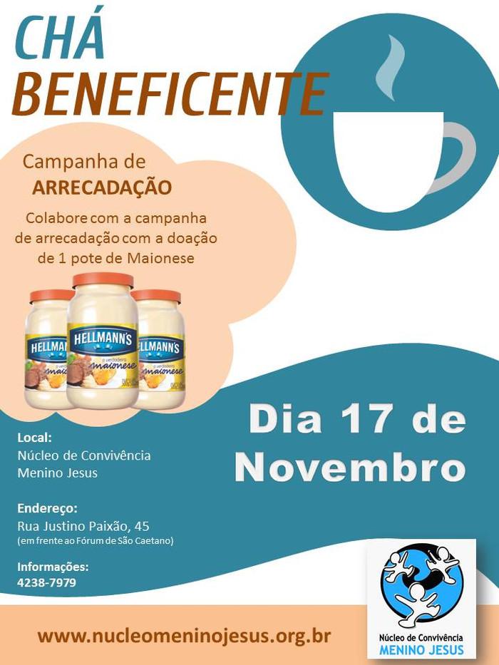 Chá Beneficente de Novembro