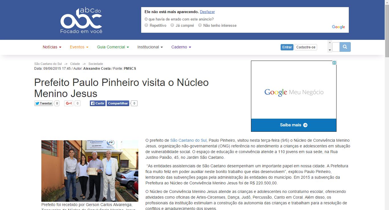 Prefeito Paulo Pinheiro visita o Núc