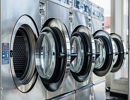 Our laundromat has four dexter mega load washers conveniently located at the entrance to the store so you don't have to walk far with your washing. The laundromat has a large six load washer as well. The laundry mat has lots of parking close to the store.
