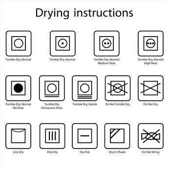 Drying care label instructions