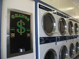 24 hour laundromats American double hopper which provides change for $20,$10,$5 and $1 for your convenience.
