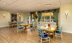 Dining Room with a View of the Deck