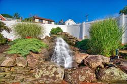 Gazebo Garden Waterfall