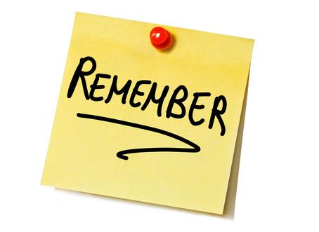 #2 - Remember...