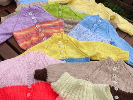 St James Church goer, Pat Taylor, knits 60 baby cardigans as donation