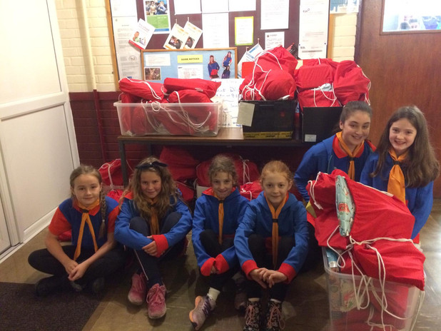 Woodthorpe Guides wrapped 70 bags.JPG