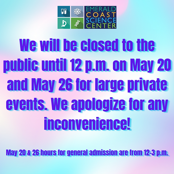 CLOSED TO THE PUBLIC UNTIL 12 P.M. ON 5/26