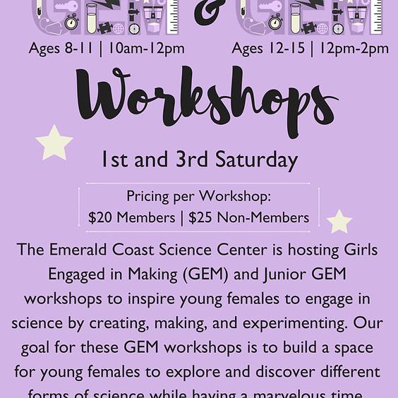 Junior GEM Workshops (Ages 8-11)
