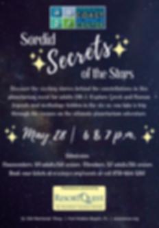 Sordid Secrets Planetarium Flyer May 28.