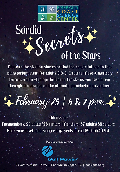 Sordid Secrets Planetarium Flyer Feb 25.