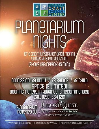 Planetarium Nights at ECSC off season ho