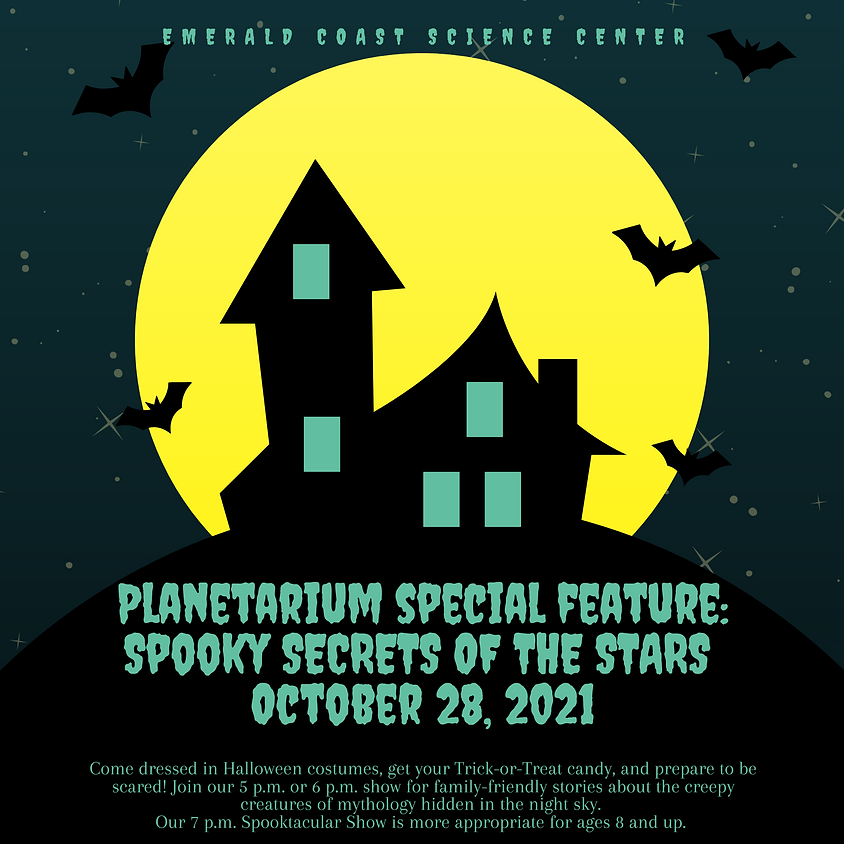 Planetarium Special Feature: Spooky Secrets of the Stars 6 p.m. All Ages Show