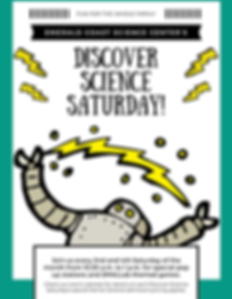 Discover Science Saturday general flyer.